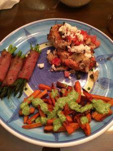 Grilled Chicken with Artichoke Salsa