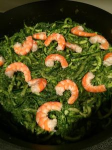 Pesto Zoodles with Shrimp